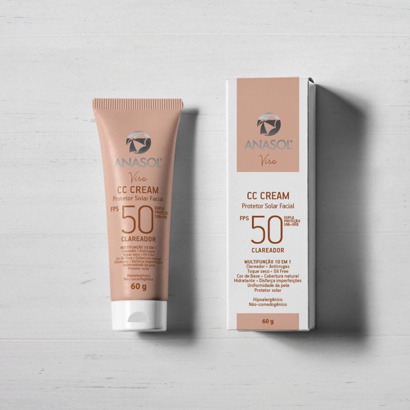 Anasol Protetor Solar Facial CC Cream FPS 50
